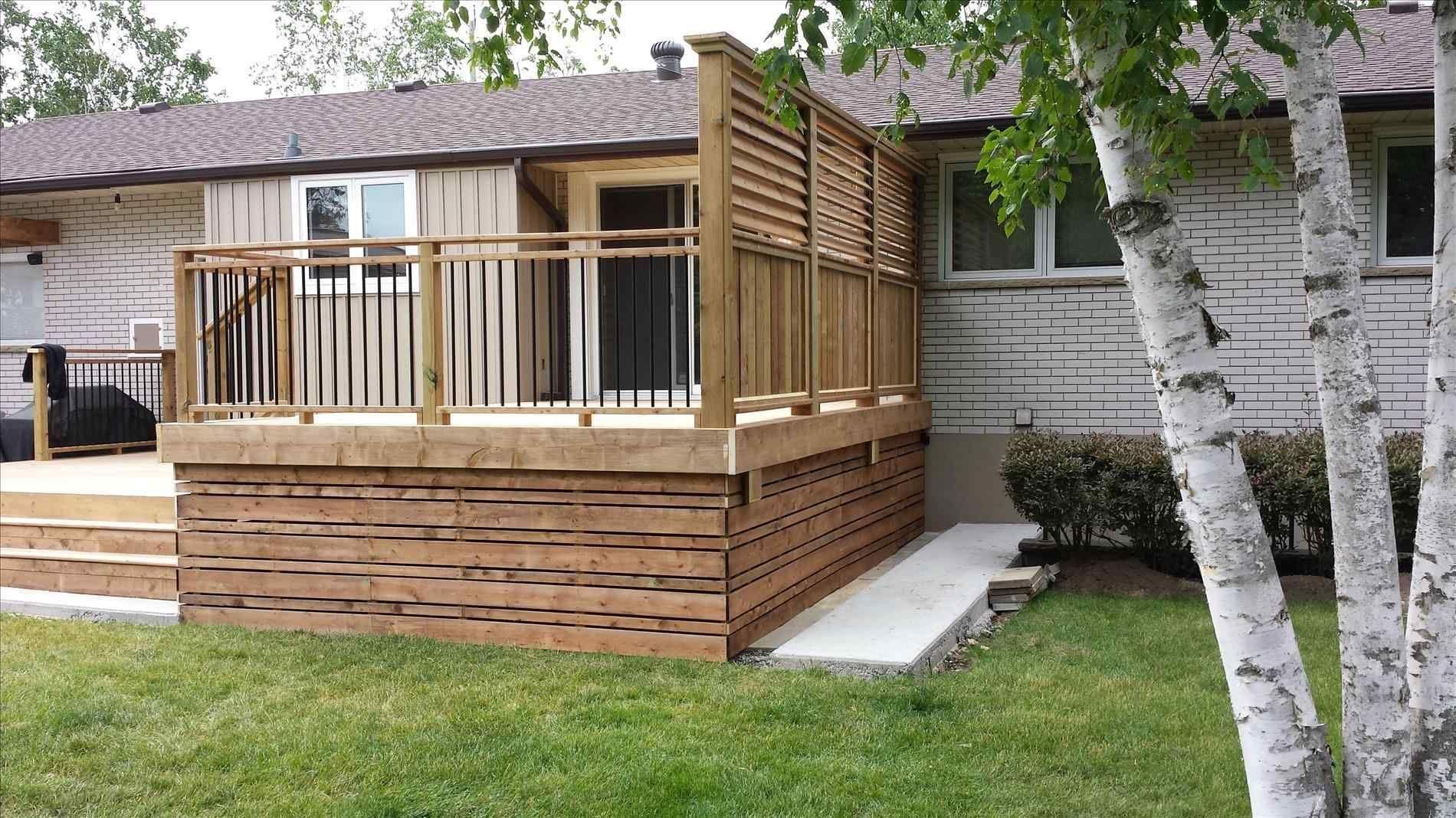 Horizontal Wood Deck Skirting Deck Skirting Decks Backyard