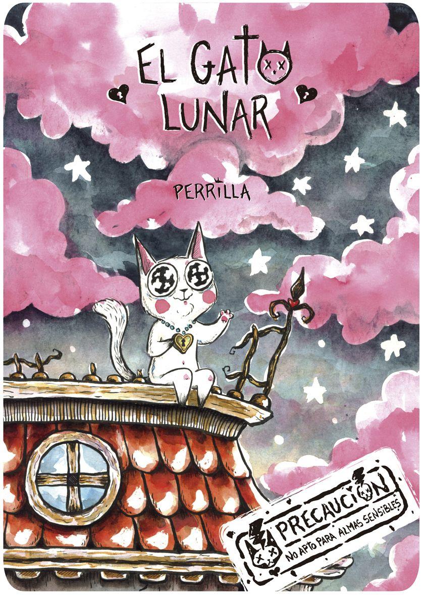 """Portada para el cómic """"El Gato Lunar"""""""