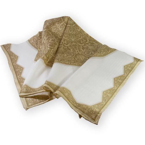 8a4ff10bb Russell-Hampton Co. Rotary Club Supplies: Square All Gold Design Silk Scarf