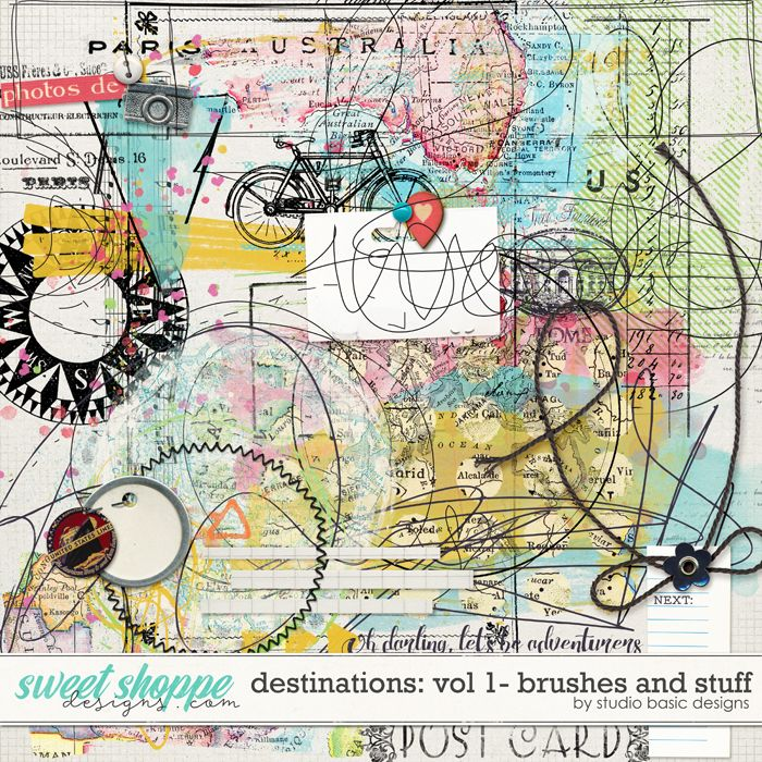 Destinations: Vol 1 - Brushes And Stuff by Studio Basic