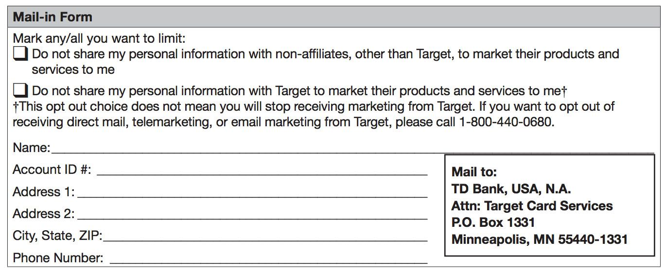Td Bank Privacy Policy For Target Credit Card Target In 2020