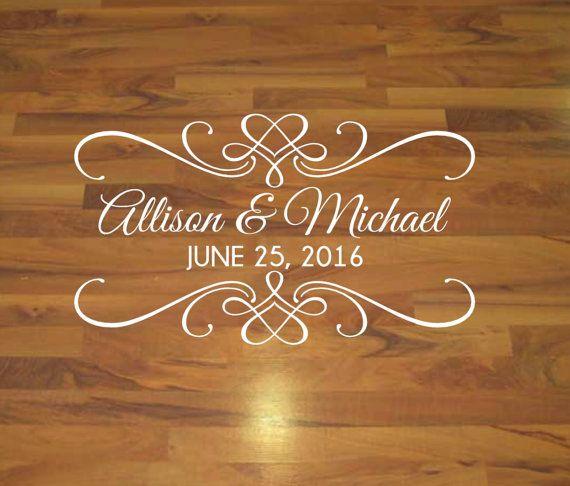 Dance floor decal wedding decal vinyl decal by vinylwritten