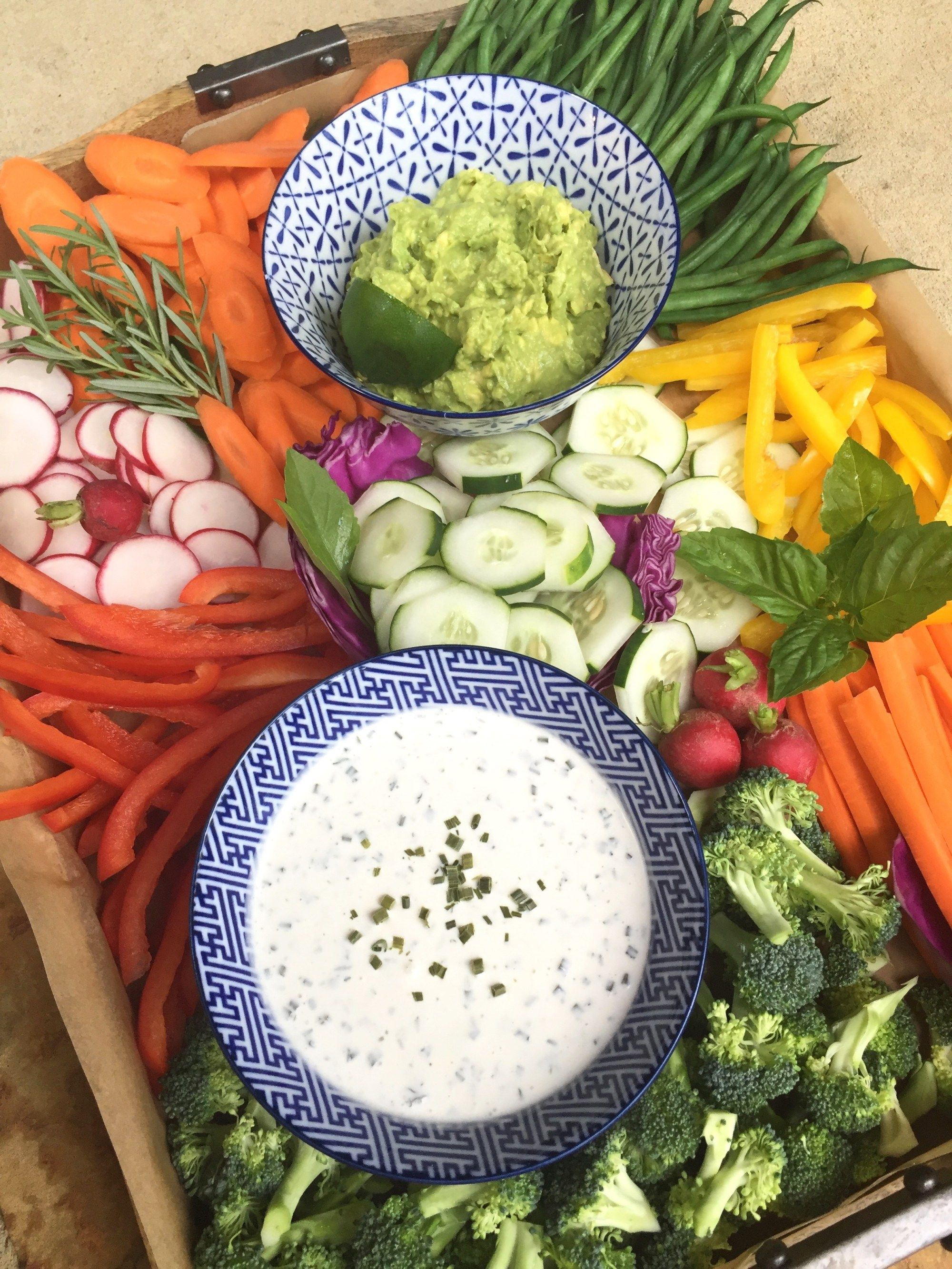 Astounding Vegetable Tray With Dairy Free Ranch Dressing Wooden And Beutiful Home Inspiration Aditmahrainfo