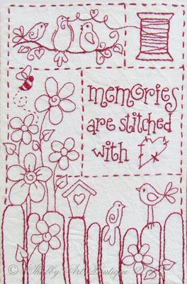 Gratis Stitchery Patronen.Free Stitchery Pattern Memories Are Stitched With Love