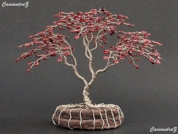 japanese maple beaded bonsai wire tree sculpture by cassandraz art rh pinterest com Weeping Willow Bonsai Bloodgood Japanese Maple