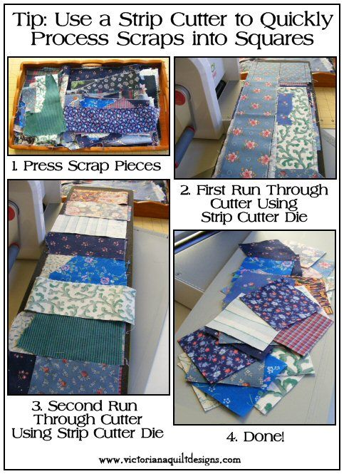 Sharing My Tip to Quickly Process Scraps into Squares ~ Using a Strip Cutter Die #quilting