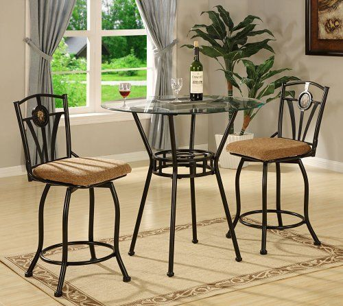 Kitchen Perfect For Kitchen And Small Area With 3 Piece: Olivia Pub Table And Chair Set