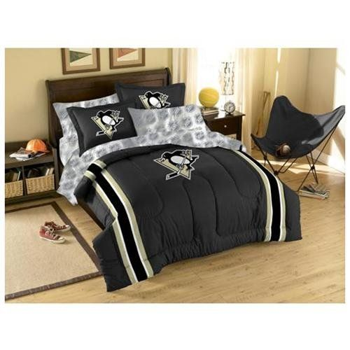 Nhl Pittsburg Penguins Bedroom Pittsburgh Penguins Comforter Sheets Hockey Bed