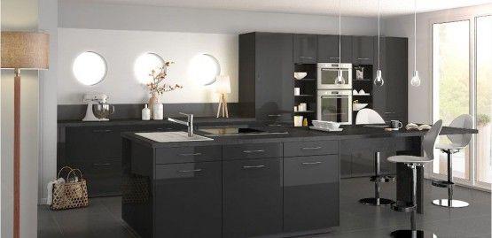 Cuisine mobalpa laque brillante noire cuisines noires - Renovation meuble cuisine v33 ...
