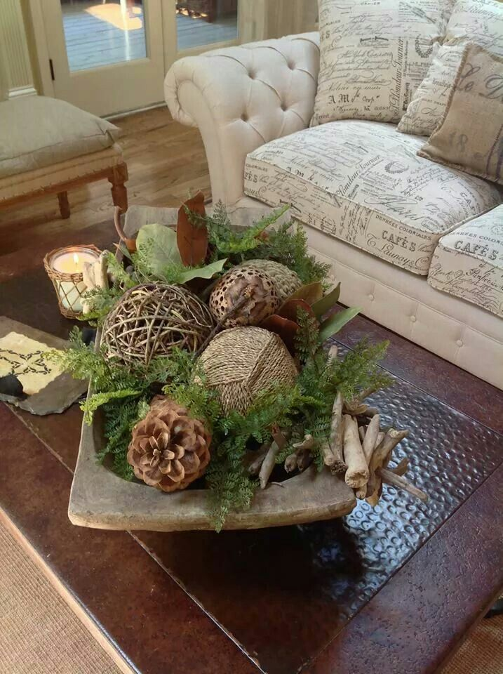 Image Result For Table Decor With Carved Wooden Bowl