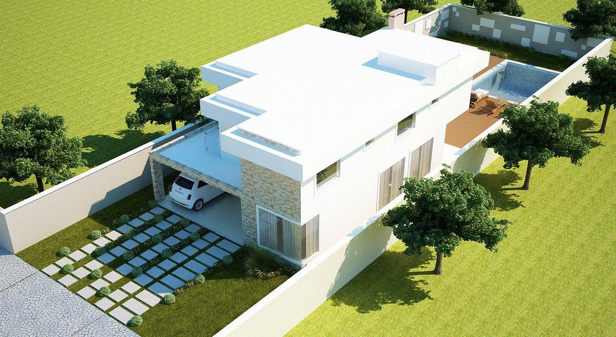 Casa 5 rea do projeto 183 16m espa o ocupado pelo for Casa moderna de 7 00m x 15 00m