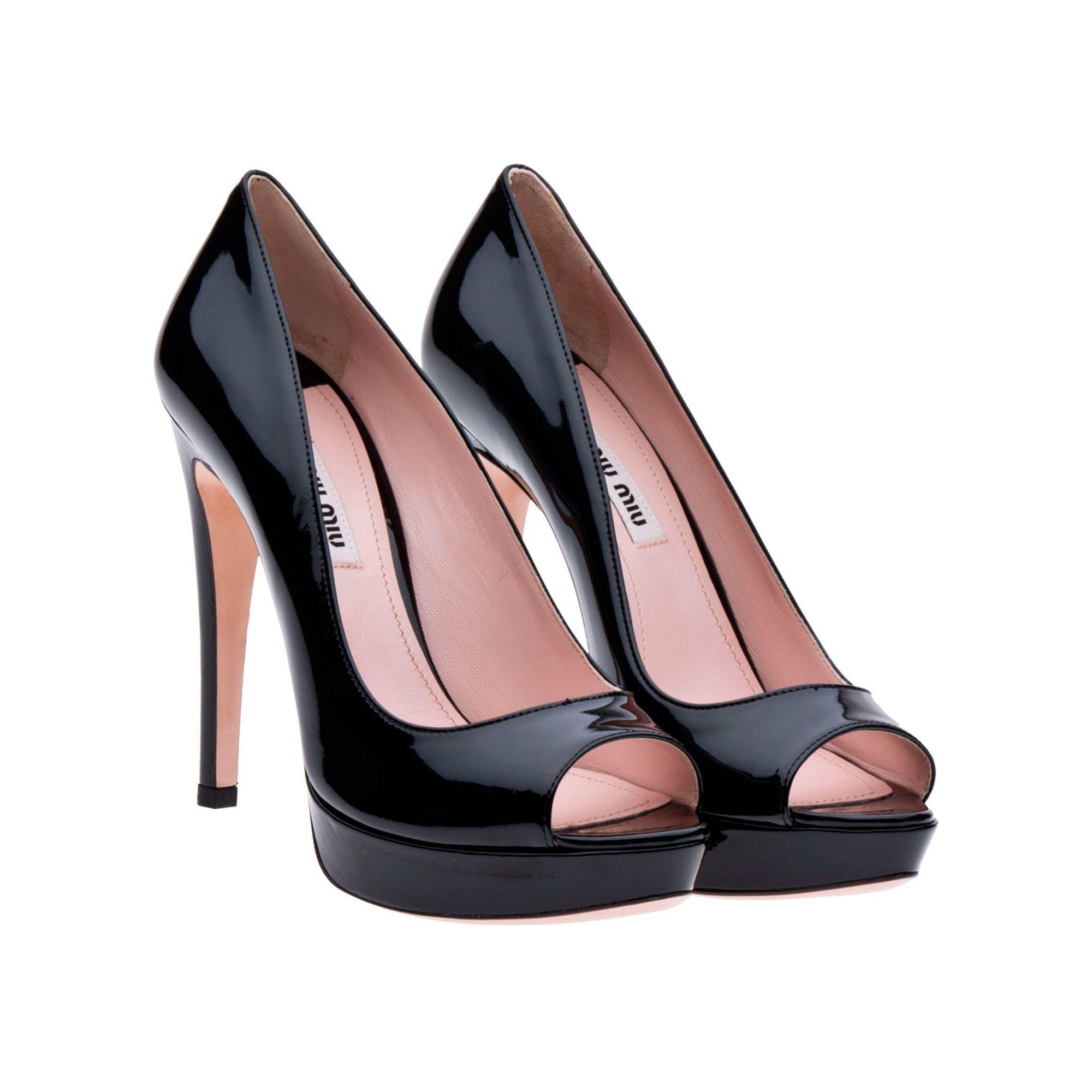 75aef03e6f81 Miu Miu patent leather open-toe platform pumps black 1