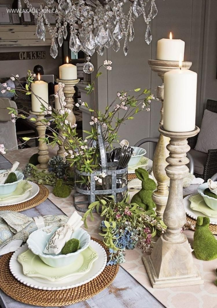 Fabulous Spring Dining Room Table Centerpiece Ideas Easter Table Settings Spring Table Centerpieces Easter Table Decorations