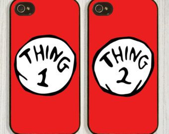 2f5a4154490 Thing 1 Thing 2, Best friend, Couple, Matching case available in iPhone 4/4s  5/5s 5c and Galaxy s4, designed and created by CellShells.