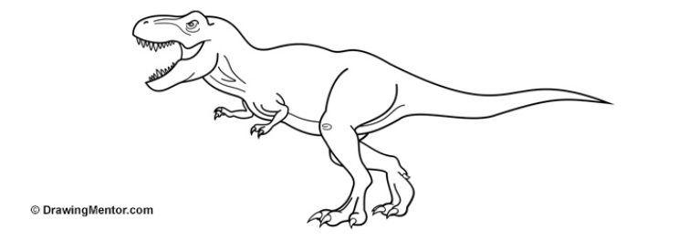 How to Draw a Dinosaur | jurassic world | Pinterest