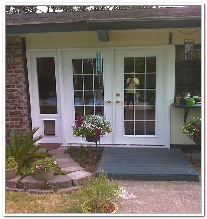 Protect French Doors From Dogs French Patio Doors With Built In Dog Door With Images French Doors Patio French Doors French Doors Exterior