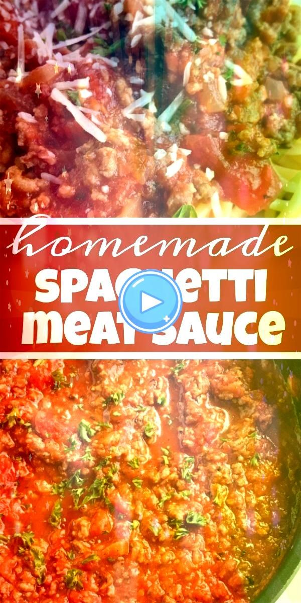 Spaghetti Meat Sauce  Spaghetti  Pasta Recipe  Ditch the canned spaghetti sauce for this flavorful beefy homemade spaghetti meat sauce Only takes a few minutes to prepare...
