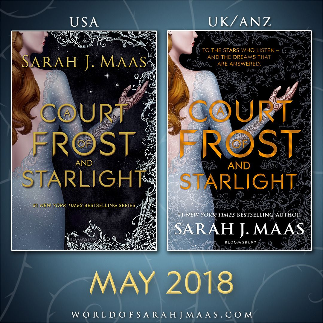 Here S The Cover For A Court Of Frost And Starlight How Excited