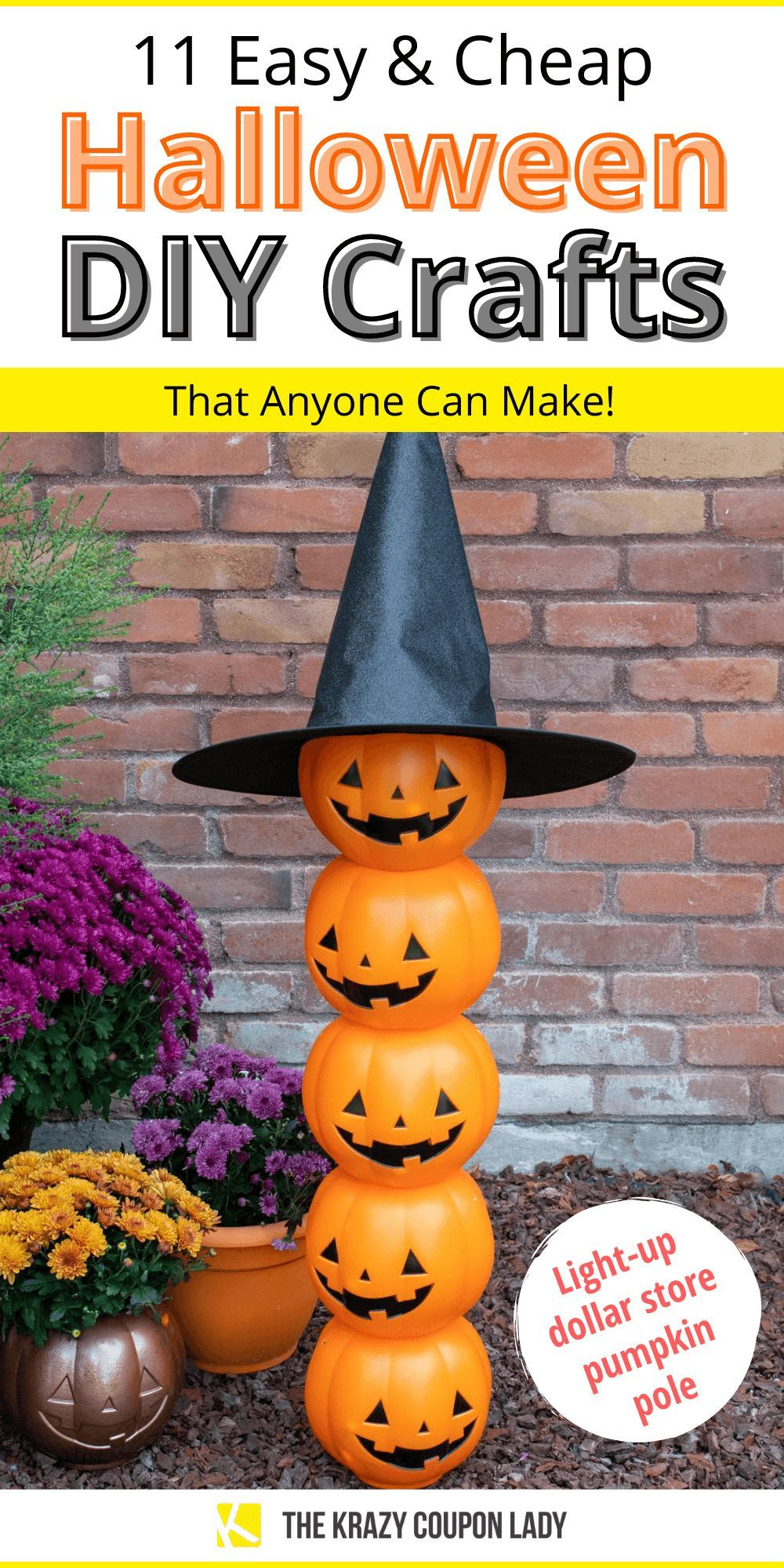 11 Easy & Cheap DIY Halloween Crafts Anyone Can Make in
