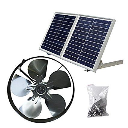 Eco Worthy 25w Solar Powered Attic Ventilator Gable Roof Vent Fan With 30w Foldable Solar Panel Solar Vent Fan Solar Panels Gable Roof