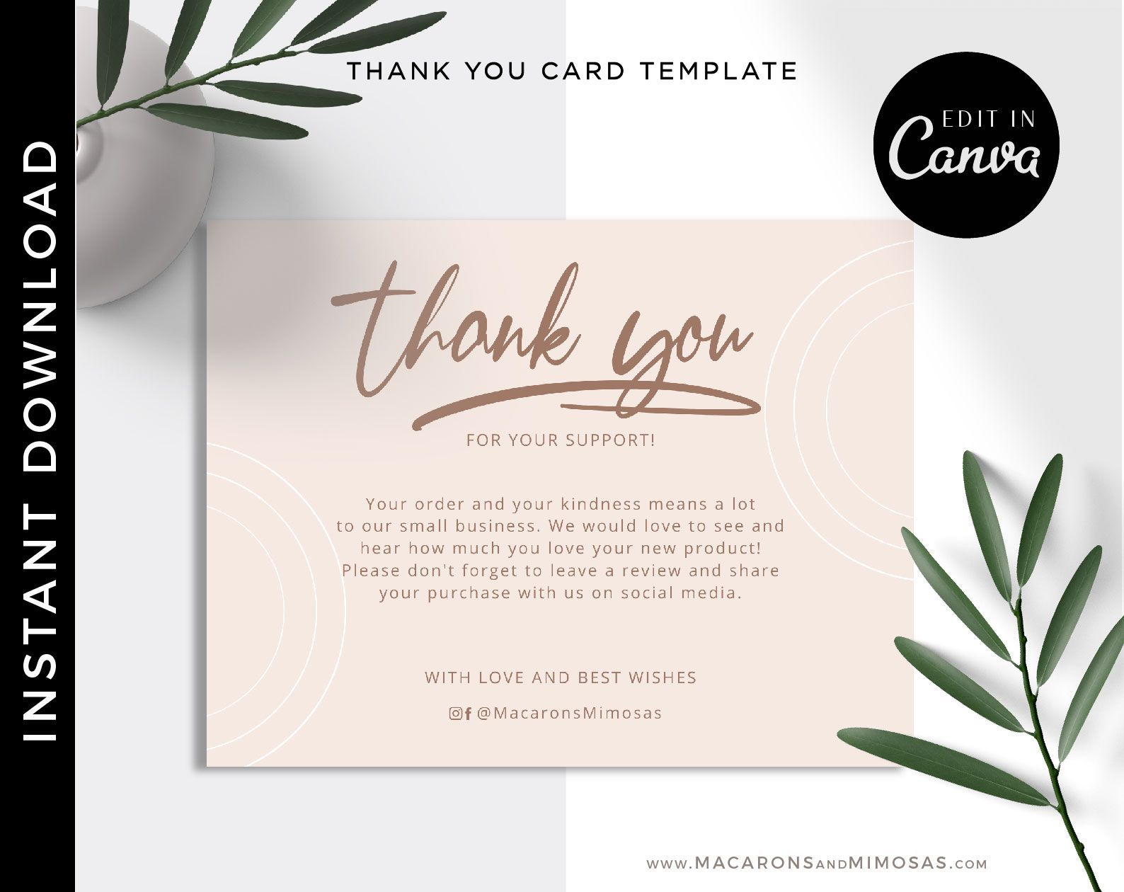 Violet Thank You Cards Macarons And Mimosas In 2021 Thank You Card Design Thank You Cards Business Thank You Cards