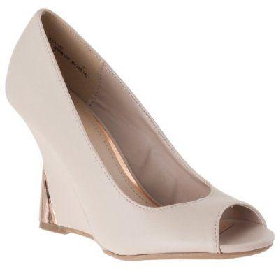 Bamboo Womens Naya Wedge Heel Peep Toe Shoes