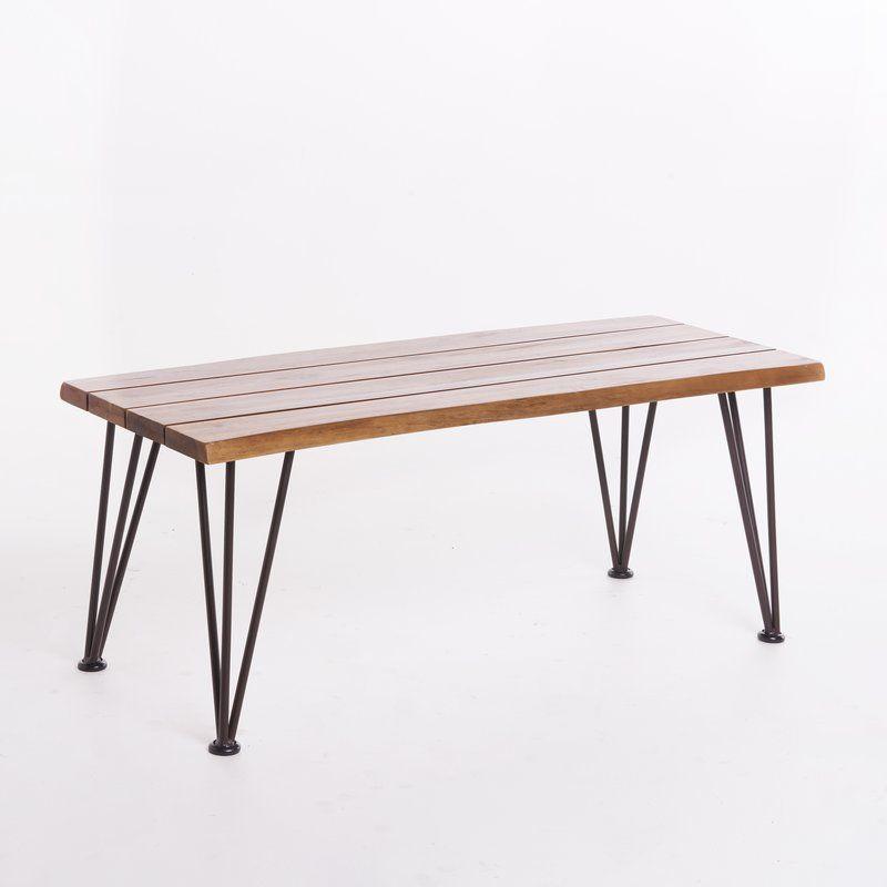 Guyapi indoor acacia wood coffee table rectangle coffee