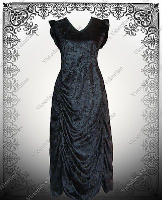 Steampunk Dress 1920s Gatsby History Pirate Renaissance Gothic Black Victorian L