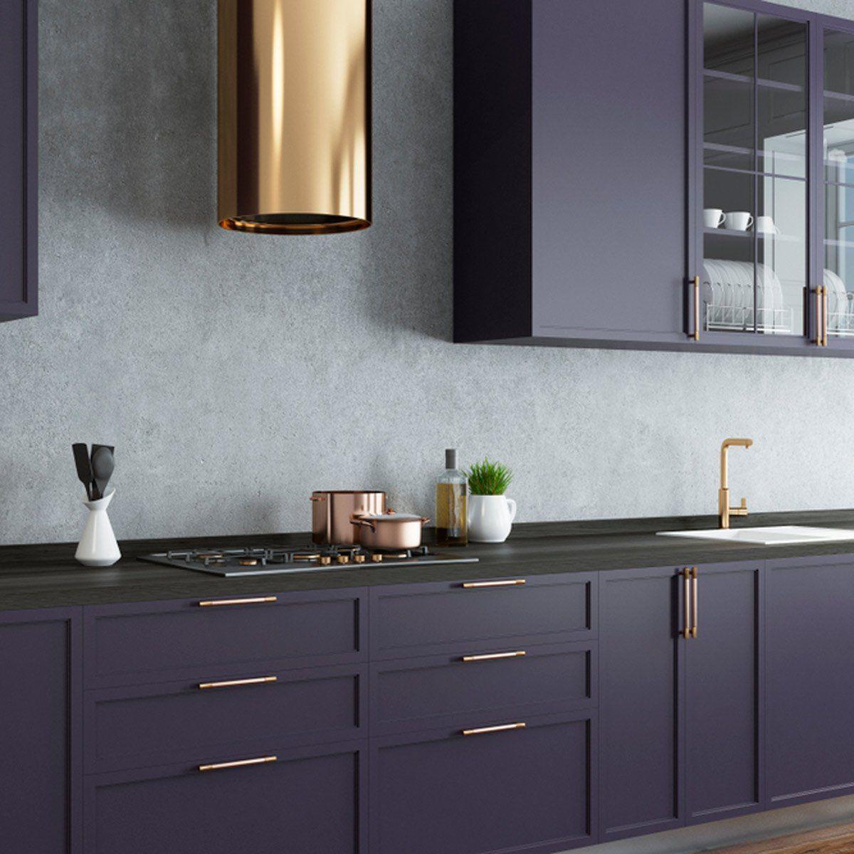 13 Stunning Dark Kitchen Cabinet Ideas Dark Kitchen Cabinets Dark Kitchen Purple Kitchen