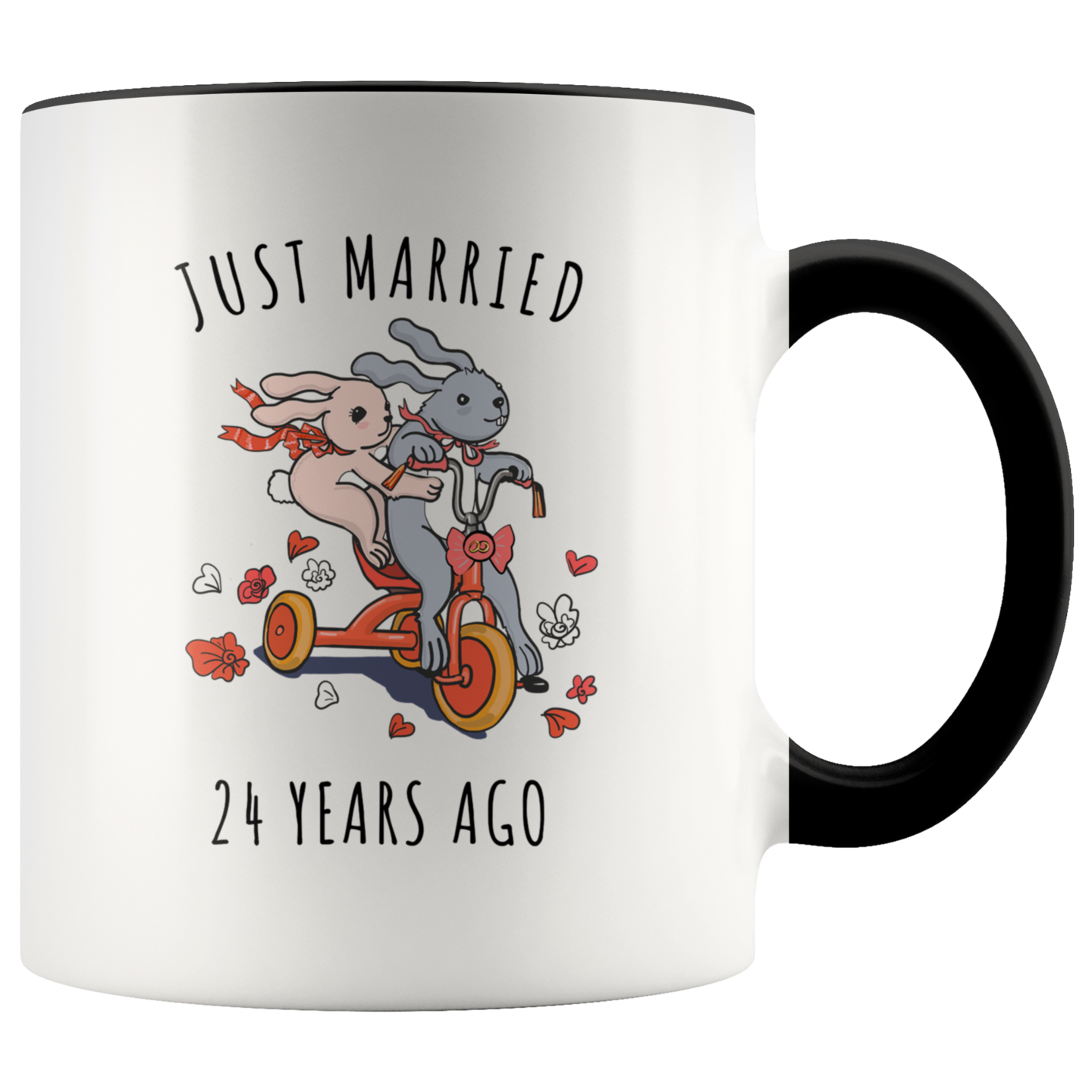 Just Married 24 Years Ago 24th Wedding Anniversary Gift