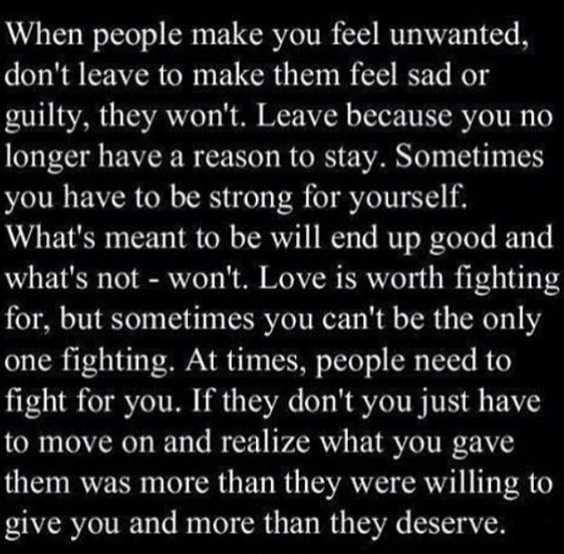 I fought so hard.... I give up now it's me and only me