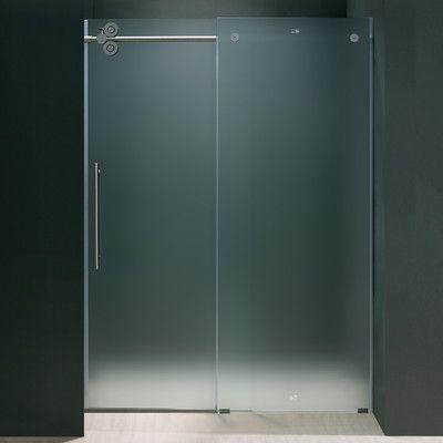 Vigo Frameless Sliding Frosted Left Side Shower Door Wayfair
