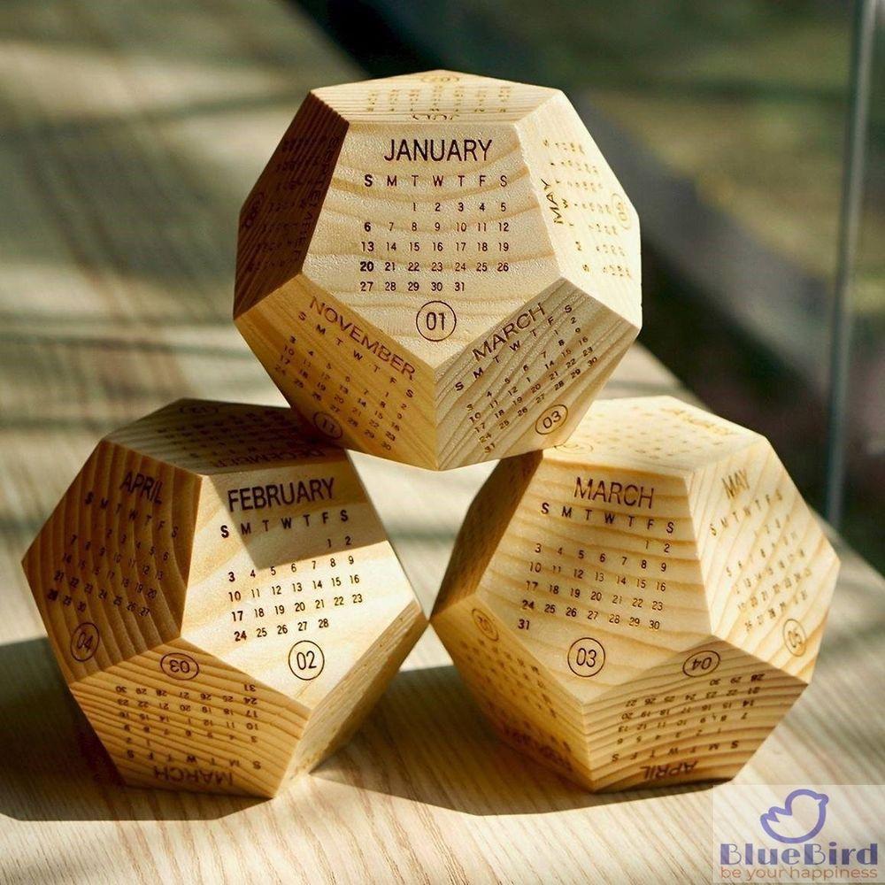 Office Or Home Decorative Cube Desktop Block Calendar Pen