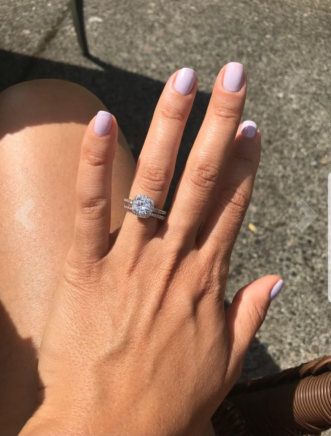 Silver rings 2 piece set. Very pretty! Just like pandora size 8.5 ...