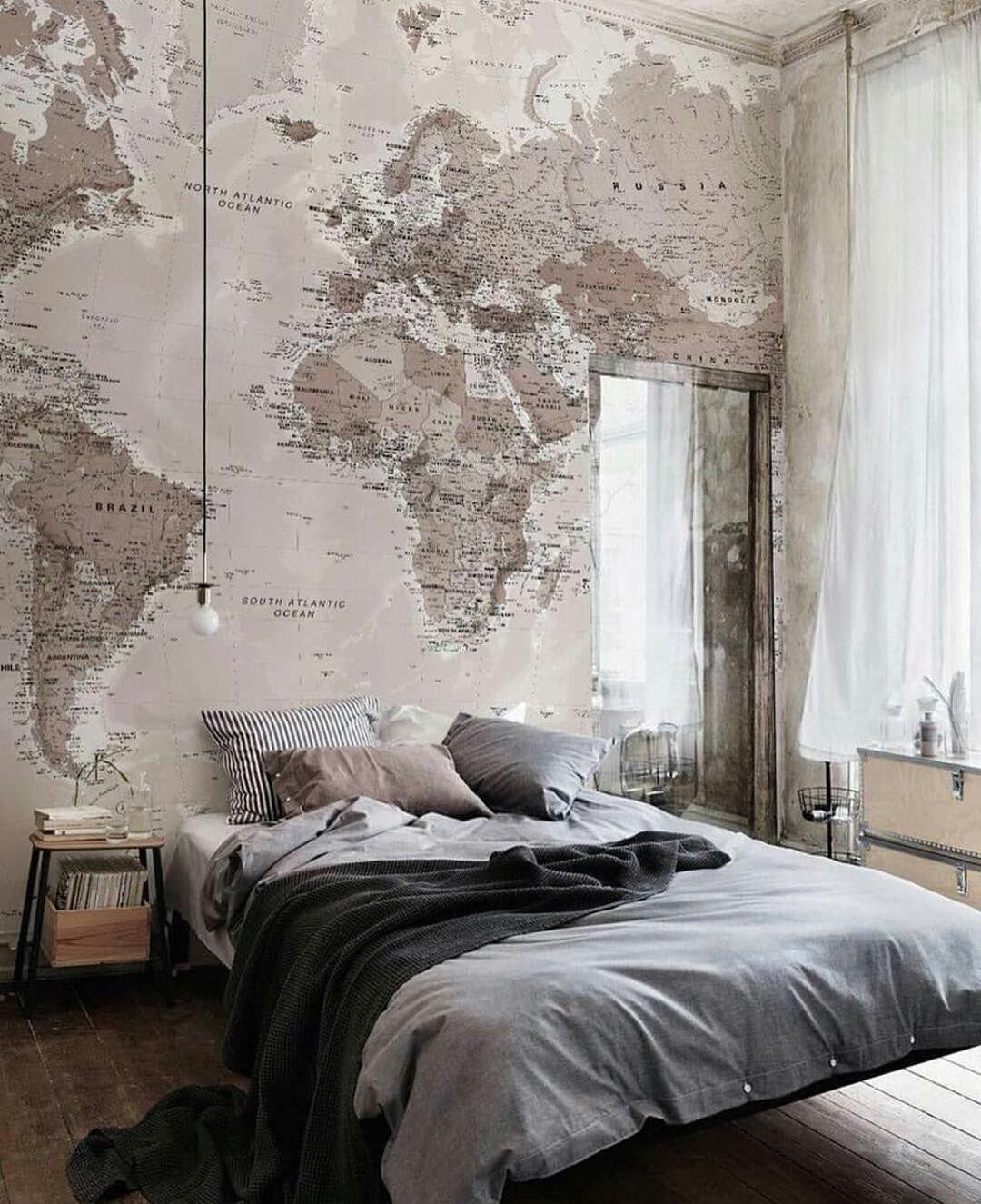 The World is yours #bedroom #interior #interiordesign by myinterior