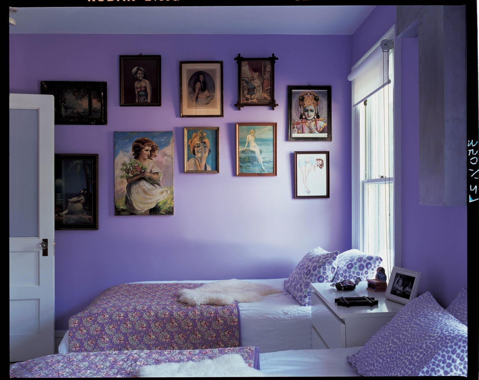 Blue Purple Bedroom Ideas Part - 36: Laminate Floor For Livingroom With White Sofa And Design Ideas Blue Purple  Girls Bedroom Home House