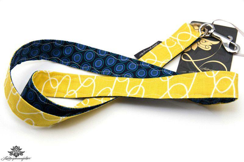 Schlüsselband von #Lieblingsmanufaktur:gelb, dunkelblau