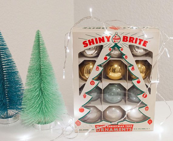 set of 12 large vintage christmas ornaments