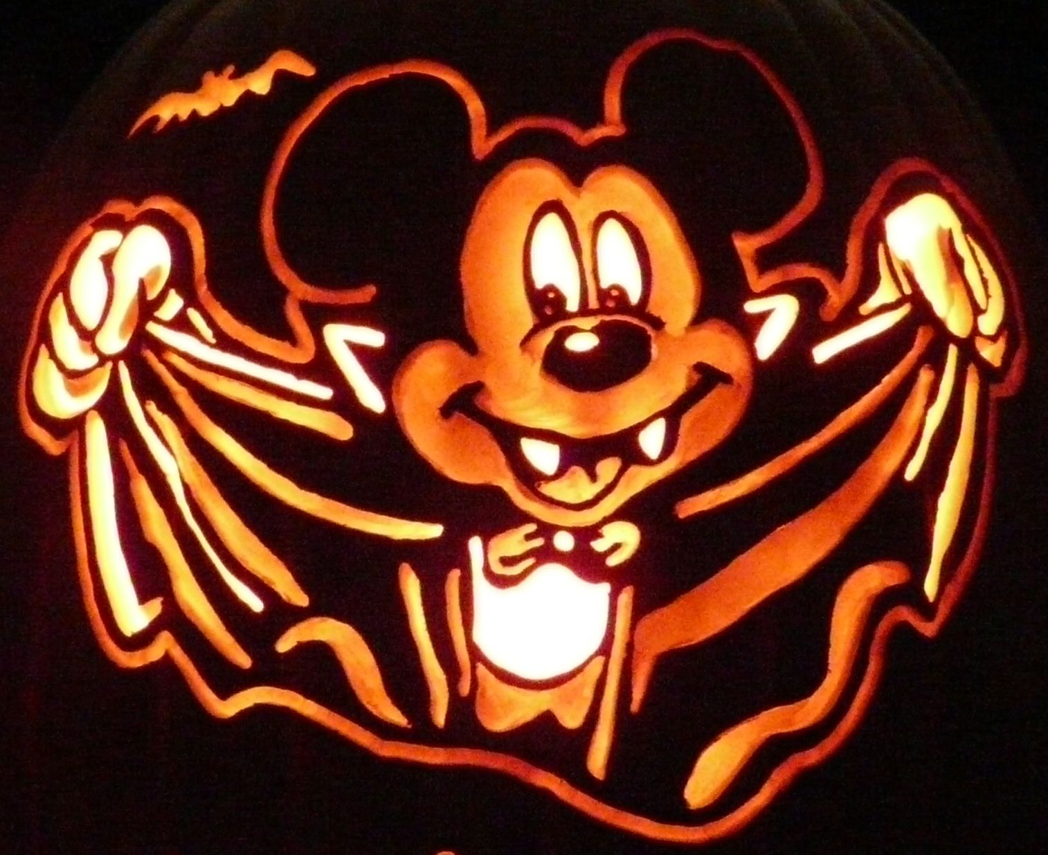 Carved Pumpkin- Here's My Last Mickey Mouse Pattern (for