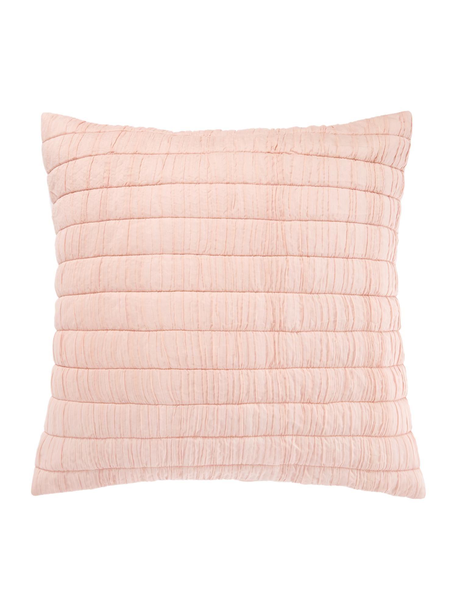 Junipa Aya Quilted Voile Sham Pink