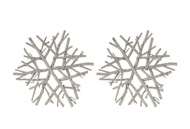 S/2 Twig Snowflake Ornaments on OneKingsLane.com
