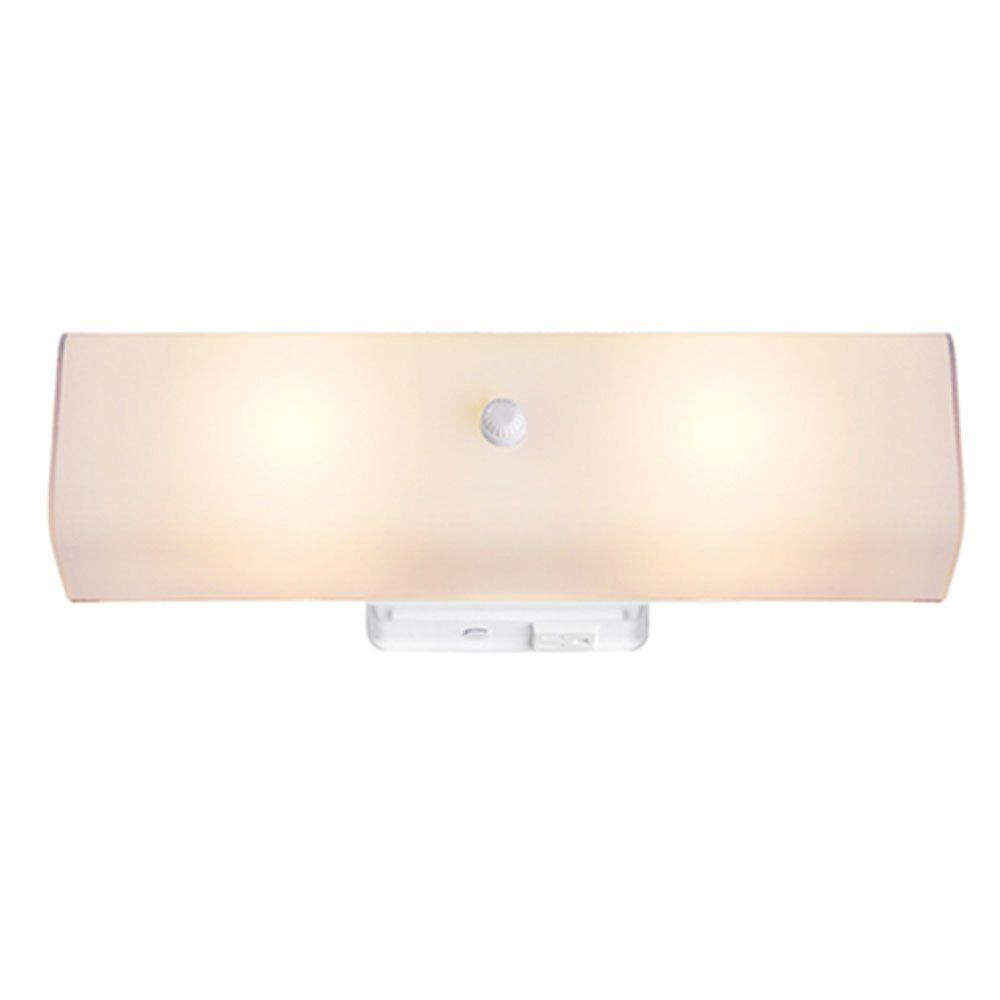 Hampton Bay 2 Light White Surface Mount Bath Bar Light