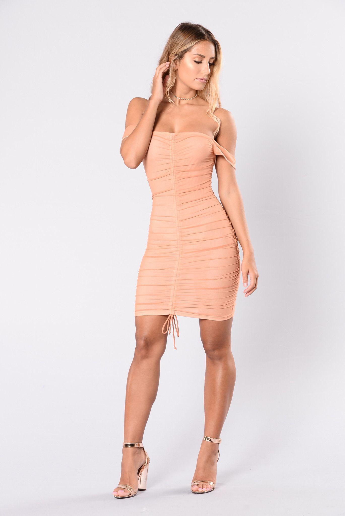 Tight Dress - Blush/Nude