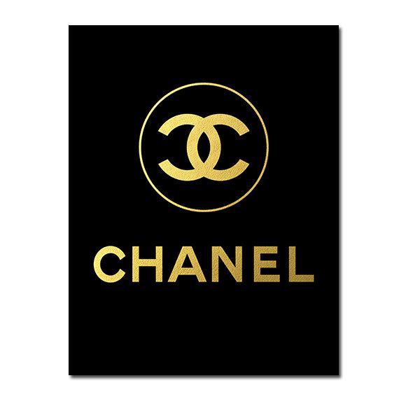 BUY 1 GET 1 FREE Printable Coco Chanel logo poster by ZirkaDesign, $5.00