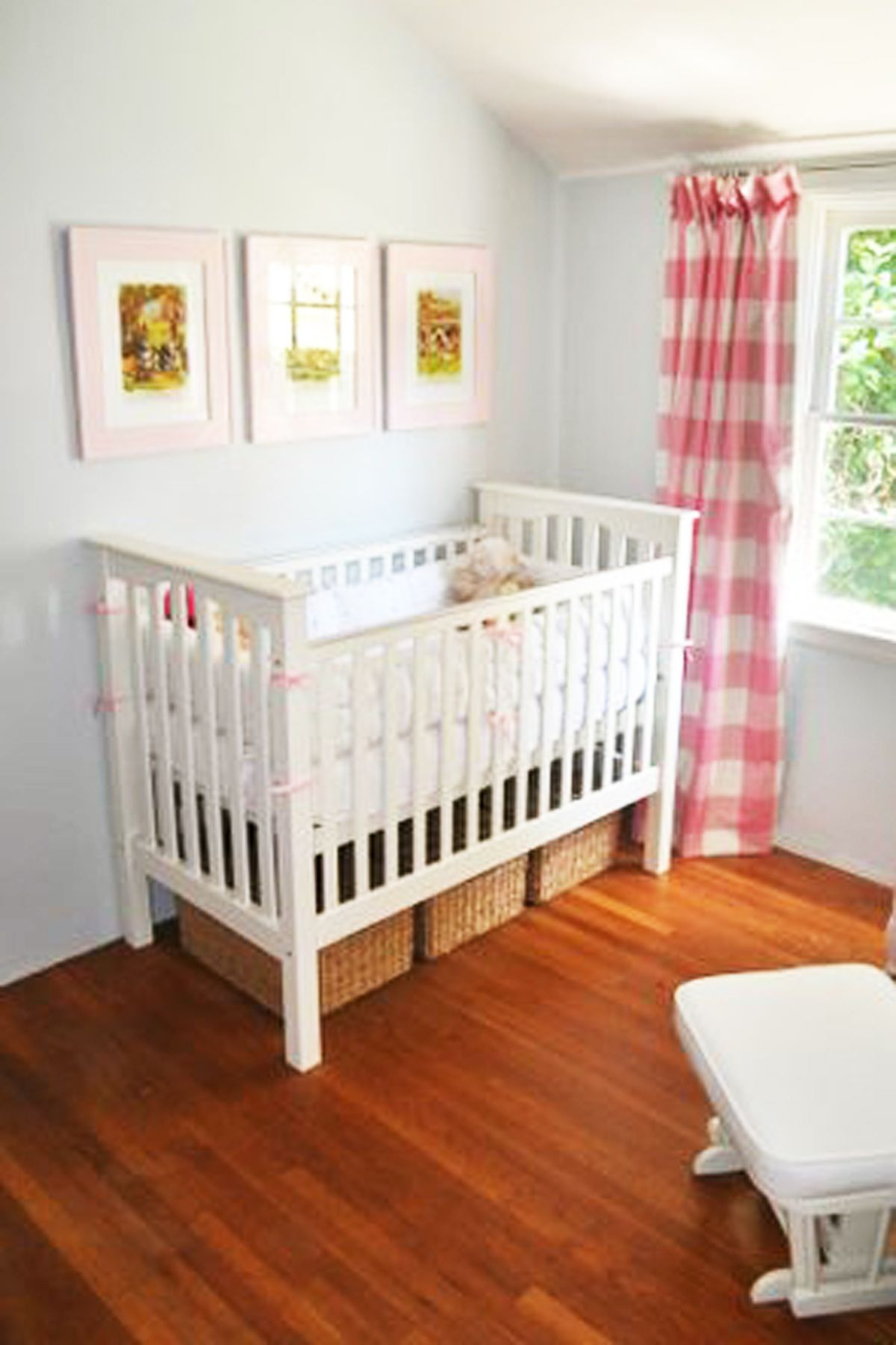 Under crib storage though ium not sure there is even room under