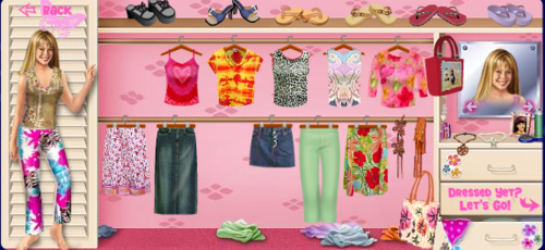I loved playing the Lizzie dress up game online