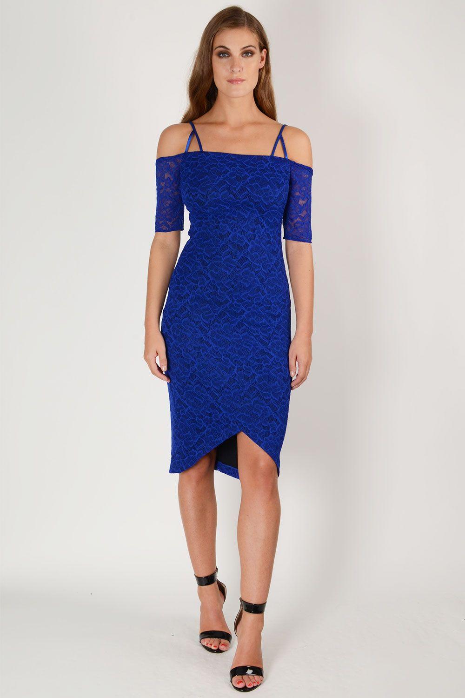 HYBRID ISLA CREPE BARDOT LACE DRESS   New Dresses  Latest