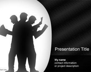 team effort powerpoint template ppt template | powerpoint template, Modern powerpoint
