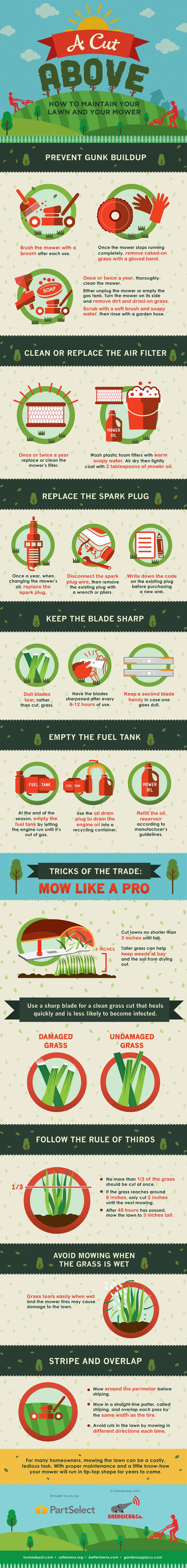 (Infographic) How To Maintain Mowers Year Round Lawn