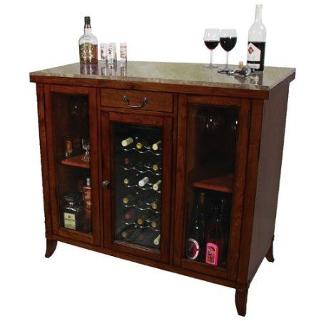Wine Cooler Furniture Cellar Cherry Cabinet Bar Wood